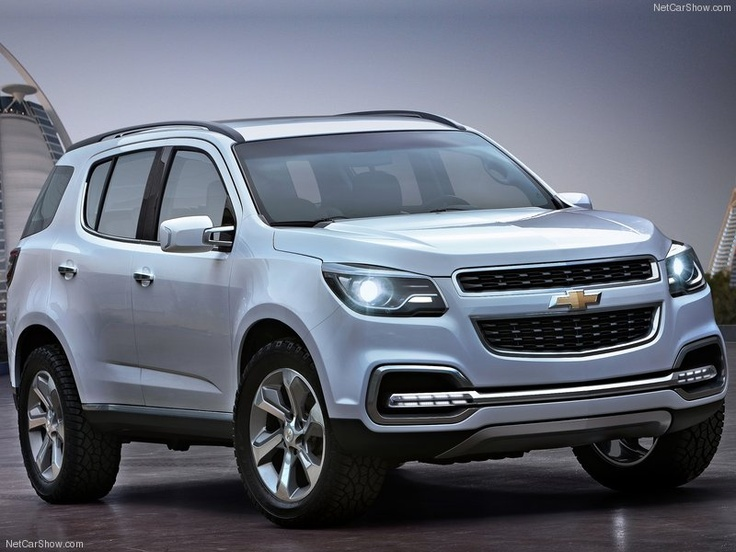 Chevy Trailblazer 2013 - didn't know they were coming back but I like mine in the older style better.  This is very futuristic looking......
