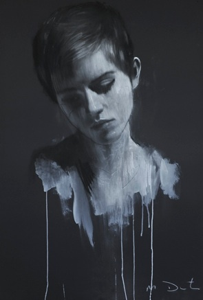The AMAZING Mark Demsteader and his work of Emma Watson #portrait #painting