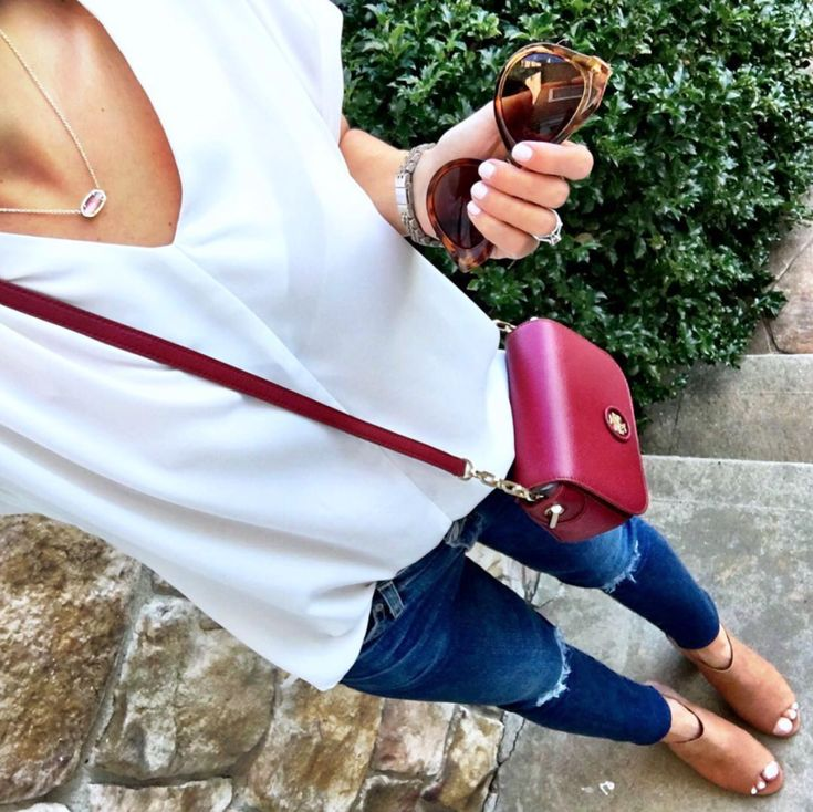 IG @MrsCasual <click through to shop this look> Nordstrom Sale Outfit. AG legging jeans, tory burch crossbody