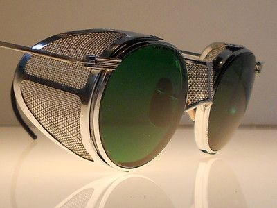 Goggles VTG Steampunk Motorcycle Matsuda Antique Safety Sun Glasses w Shields $350.00