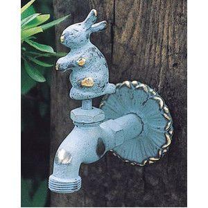 蛇口 立水栓/水栓柱に取付けアニマル蛇口(青銅色)ウサギ ガーデン蛇口 水回り フォーセット|ガーデン&エクステリア 通販 エストア