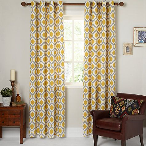 Buy John Lewis Indah Lined Eyelet Curtains Online at johnlewis.com