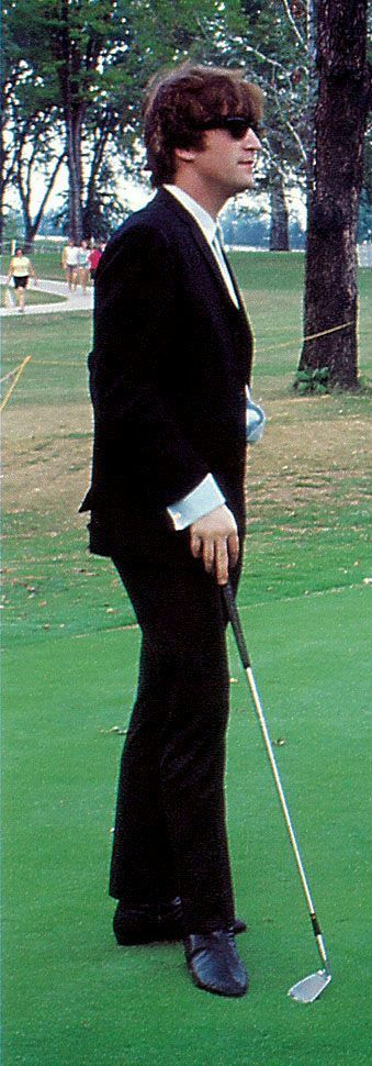 You don't usually play golf in a suit...