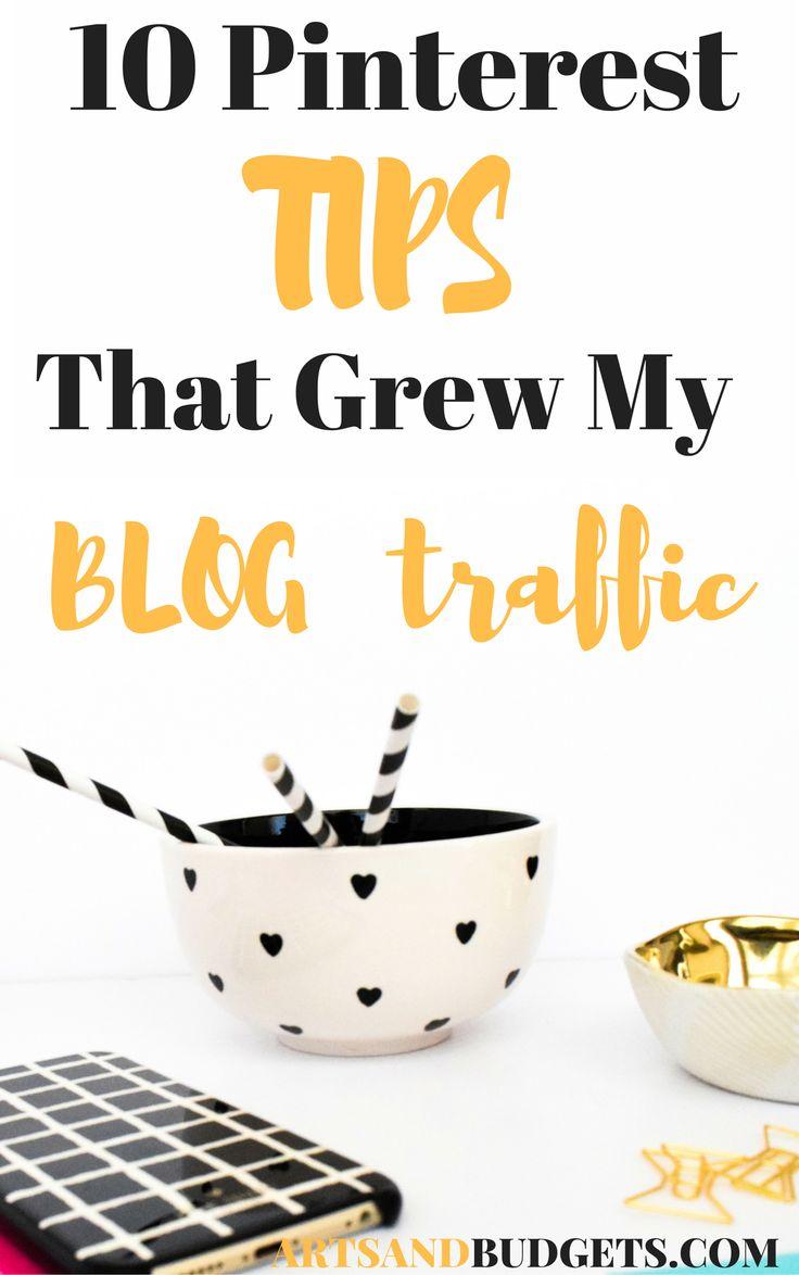 10 Pinterest TIPS that grew my BLOG traffic