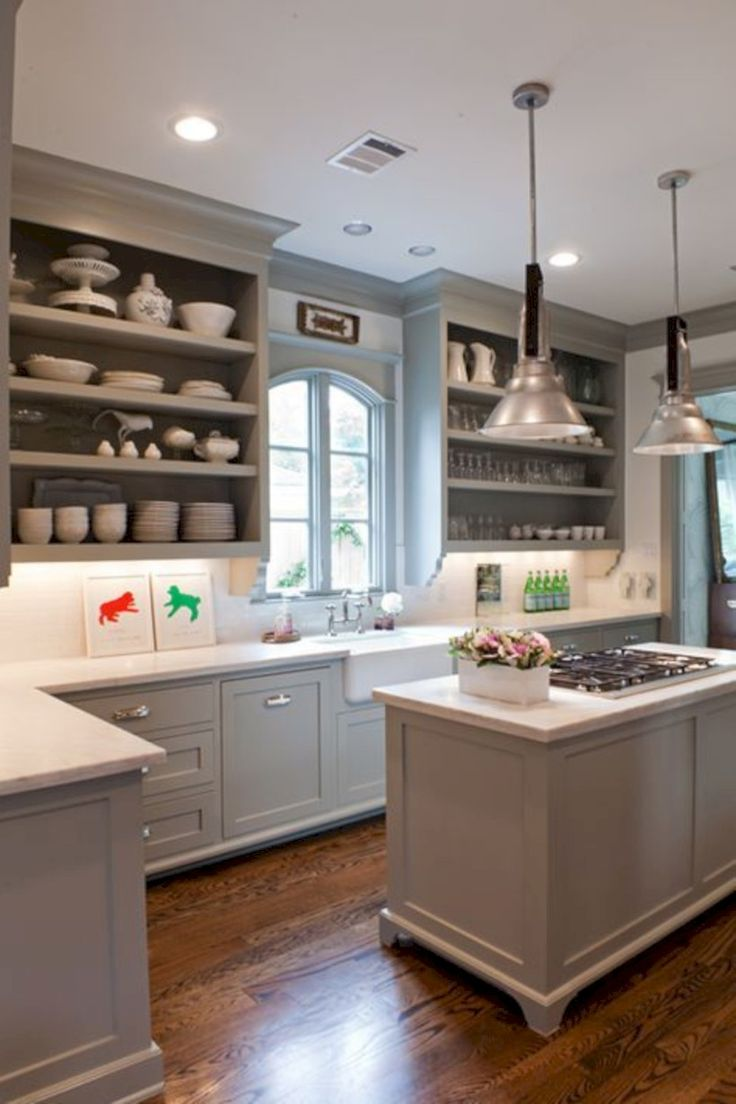 awesome 40 Adorable Grey And White Kitchens Design Ideas