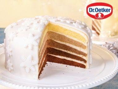 Weihnachtliche+Ombré-Torte