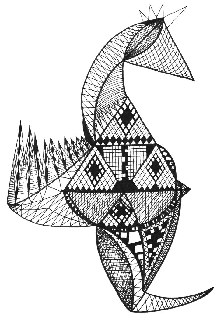 Sea Horse #zentangle #sea horse #drawing #selfmade #black and white #handmade #patterns #asymmetry