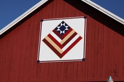 patriotic barn quilt designs | Project Administrator: Patti Peterson, Shawano Country Tourism Council