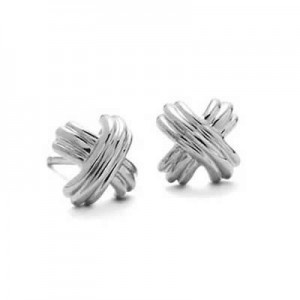 Tiffany And Co Earrings Cross Silver Jewellery