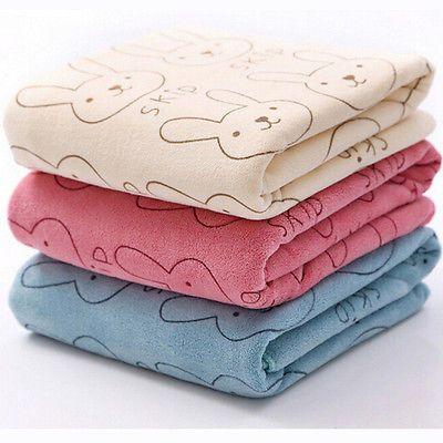 Cute Microfiber Absorbent Drying Bath Beach Towel Washcloth Swimwear Baby Towel