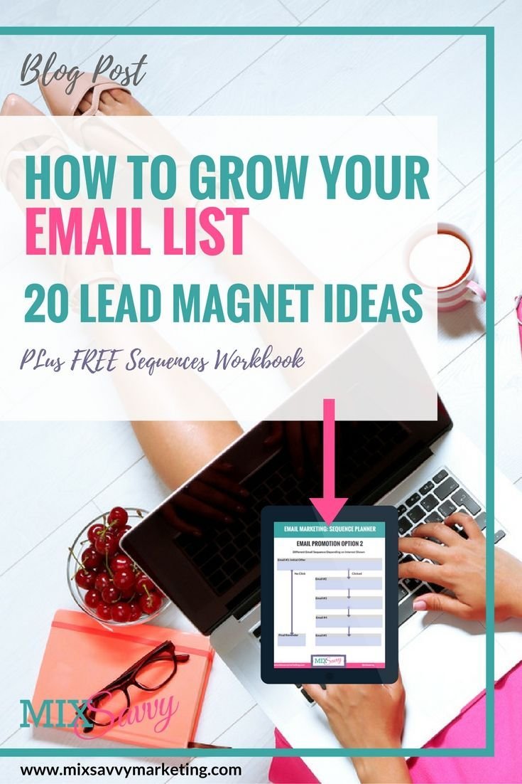 Grow your Email List by creating a great Lead Magnet, Signature Freebie or Email Opt In. Prompting Questions, Top Tips & Over 20 Freebie Ideas!!