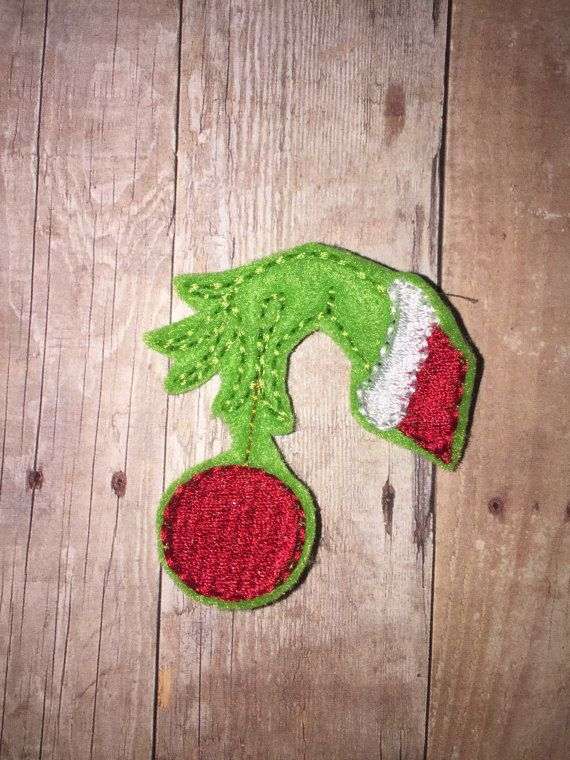 Set of 4 Grinch that Stole Christmas Hand Holding Ornament $3.99+