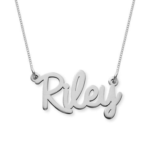 Personalized Cursive Name Necklace In 10k White Gold Name Necklace White Gold Personalized Jewelry