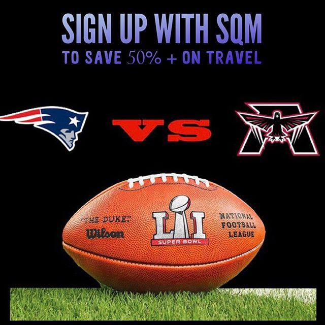 Are you excited for the Superbowl?  We are too and too celebrate we are recruiting new travelers to sign up to our exclusive program offering big savings on bus, plane and train travel.  To sign up click here: www.sqm.ca/welcome  #SUperbowlSunday #SUperbowlLI #SUperbowl51 #SB51 #Houston #Texas #Superbowl #NFL #Football #SUndayFootball