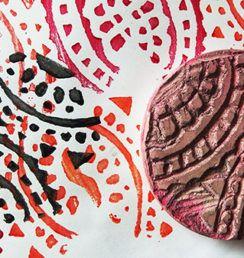 Vyrobte si vlastní razítko z mazací gumy «  Galerie Kateřina Lazarová