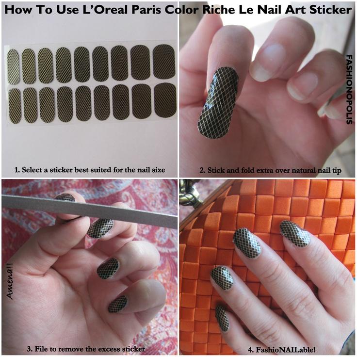How To Use Loreal Paris Color Riche Le Nail Art Sticker