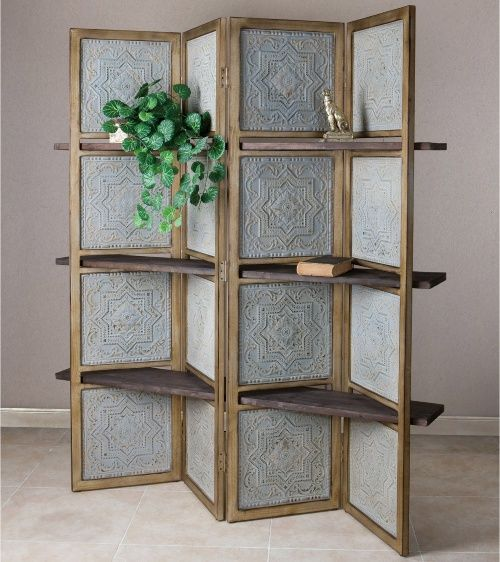 Uttermost Anakaren Screen With Shelves Room Dividers At Hayneedle More