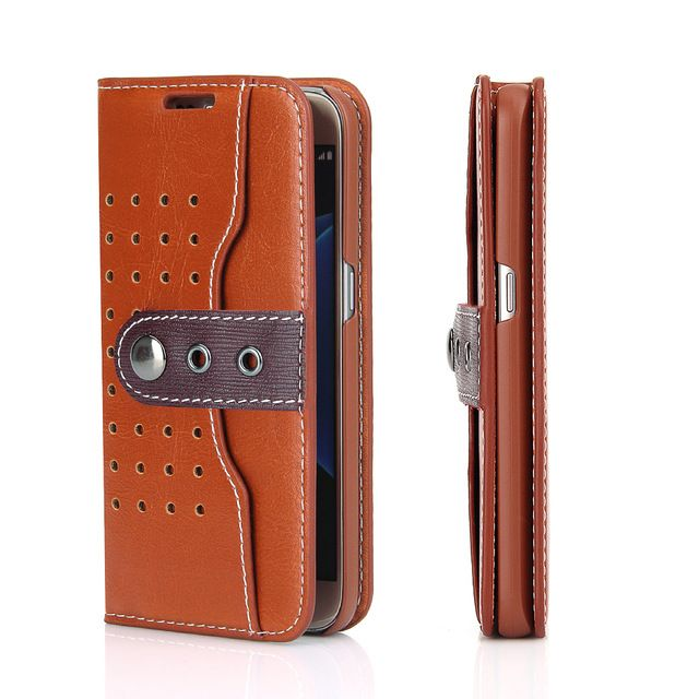 >> Click to Buy << FIERRE SHANN flip wallet card slot holder buckle dermis PU leather case for Samsung Galaxy S7 mobile phone case #Affiliate