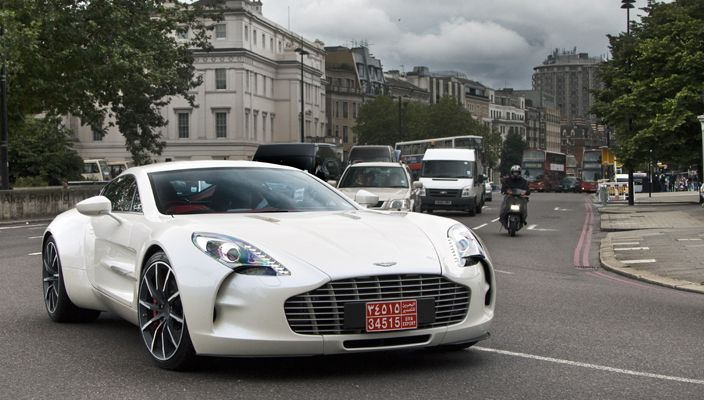 Aston Martin One-77- one of the many supercars in London. Thanks @Top Gear