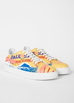free shipping 87d8e 2efb2 Men s Leather  Mackerel  Print  Basso  Trainers Paul Smith - Paul Smith    Sneakers   Pinterest   Mens designer shoes, Designer shoes and Trainers
