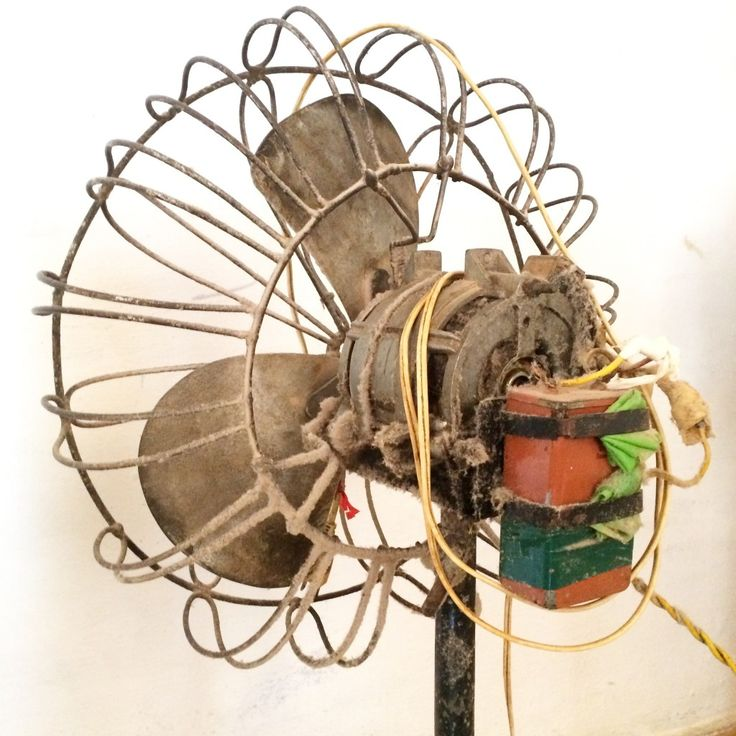 A fan made from a boat propeller, an old washing machine motor and welded steel rods in El Gabriel, Cuba.  Photo by Edel Rodriguez