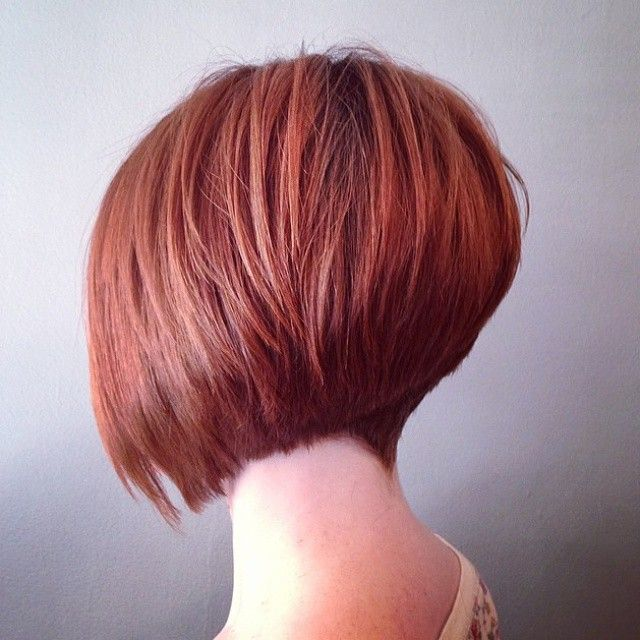 The haircut makes her neck look longer, #sexyhaircut #shortbob with a blunt cut #fringe #bob #shorthair #ilovebobs #ilovehair #boblife #alinebob #aline #nape #haircutswag #invertedbobcut #asymetricalbob #redhair #redhead #redbob #graduatedbob #layeredbobs