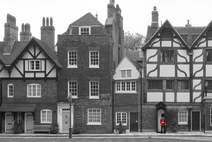 Houses in the Tower of London. What a place to live!