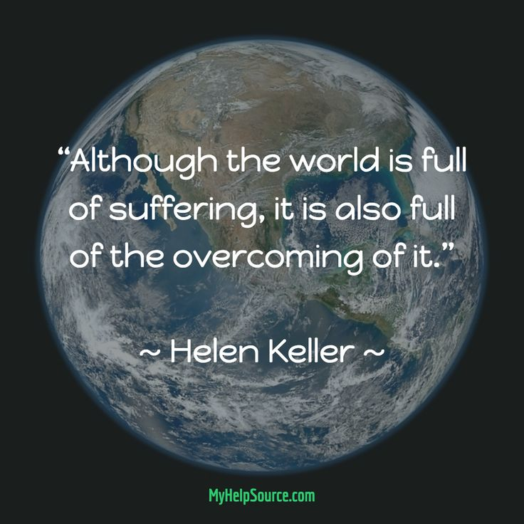 is world full of suffering essay Essay about life is suffering  the world is full of suffering, but it is also full of people overcoming it though helen keller was not a philosopher,.