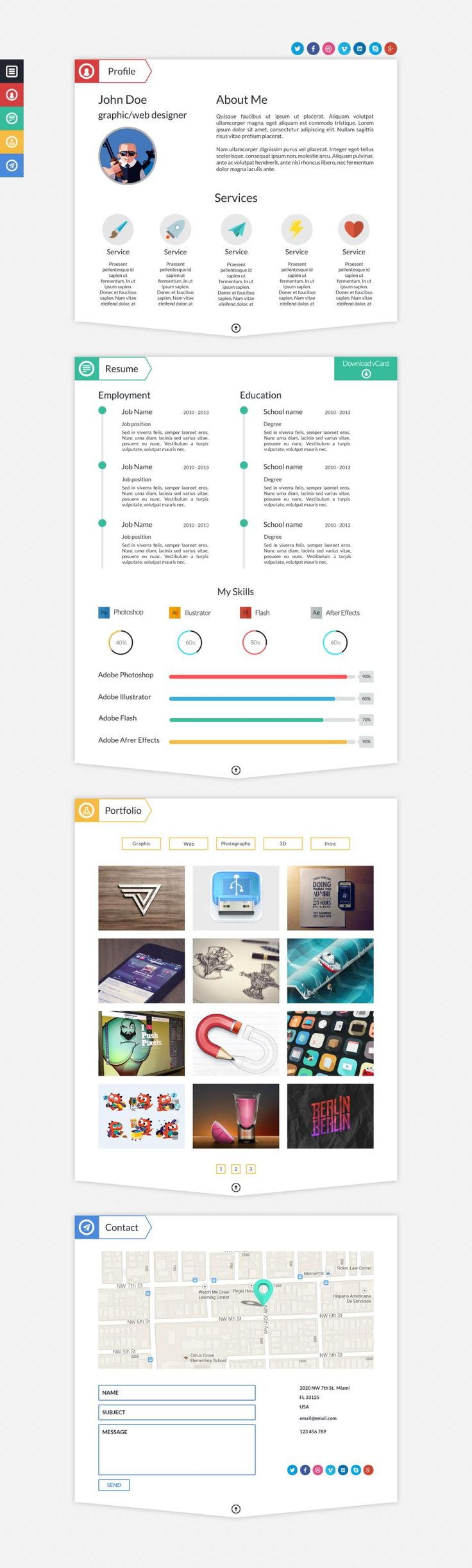 Best Colorful Infographic Resume Template Images On