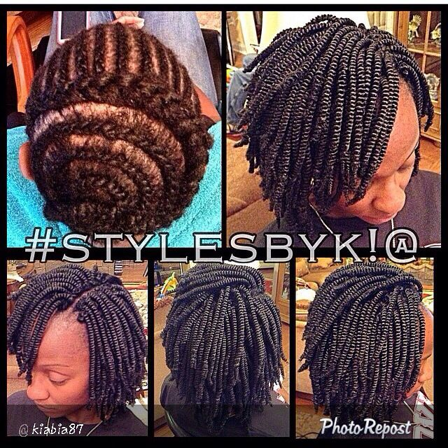 Kinky Twist Crochet Hair Styles : Crochet braids, Braid patterns and Braids on Pinterest