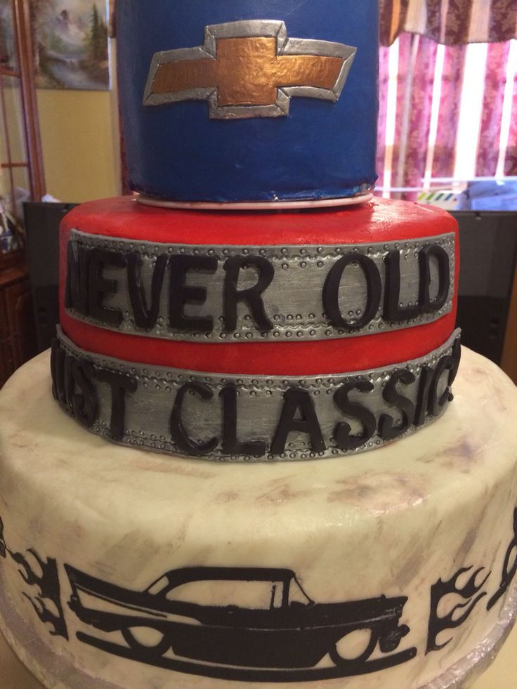 Best Images On Pinterest Car Cakes Chevy And Birthday