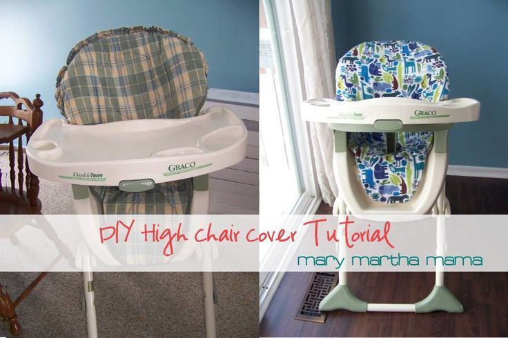 DIY high chair cover tutorial- Have a high chair with an ugly cover?  Use this easy tutorial to make a new one for just about $5.