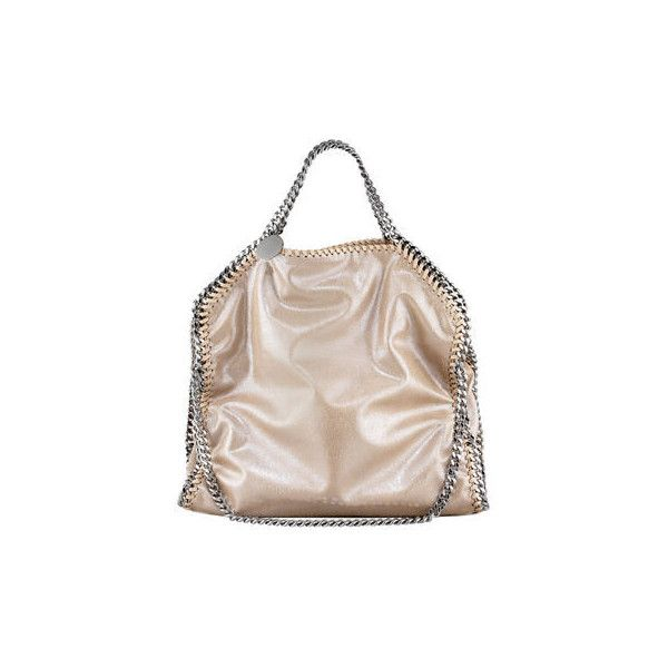 Stella Mccartney Falabella Fold-Over Tote Bag (£810) ❤ liked on Polyvore featuring bags, handbags, tote bags, handbags totes, foldover tote, pink tote bags, foldable tote bags and tote purses