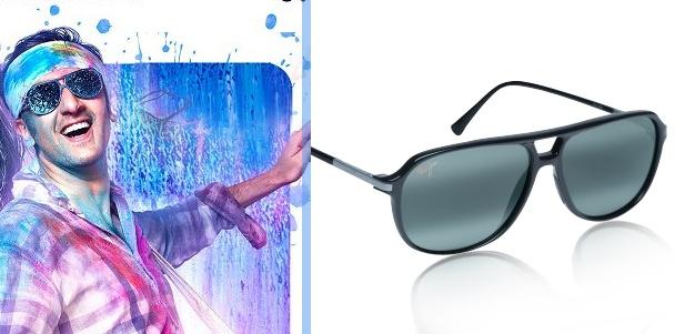 Ranbir sporting Maui-Jim Aviator Sunglasses in 'Yeh Jawaani Hai Deewani' poster.