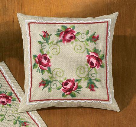 In Full Bloom Cushion Front Cross Stitch Kit   sewandso