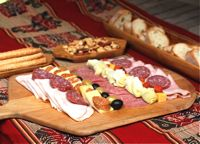 Argentinian Picada - Sampler Tray of Cured Meats and Cheeses