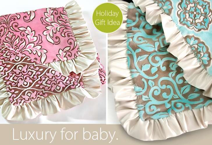 Yeah, I'm making this. DIY satin lined minky fabric baby blanket.