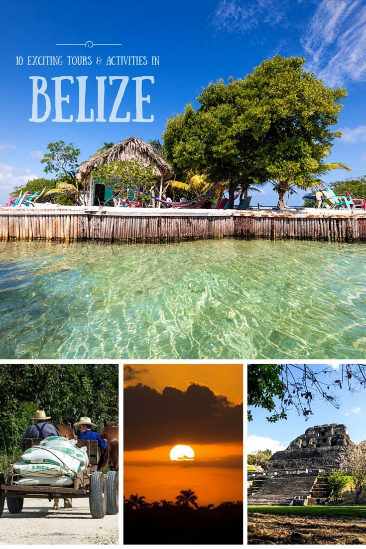 There's no shortage of exciting activities and tours in Belize. We took tours into the jungles, mangroves, cayes (islands), and some spectacular ruins.   For such a small country, Belize has a lot to offer!