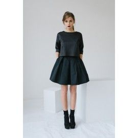 Mini skirt with pockets #minimalism #allblackeverything