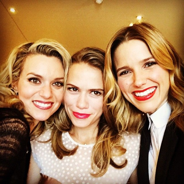 The first picture—a selfie posted by Sophia on Instagram—shows her along with fellow cast members Hilarie Burton and Bethany Joy Lenz. (The ladies played Brooke Davis, Peyton Sawyer, and Haley James Scott, respectively.)