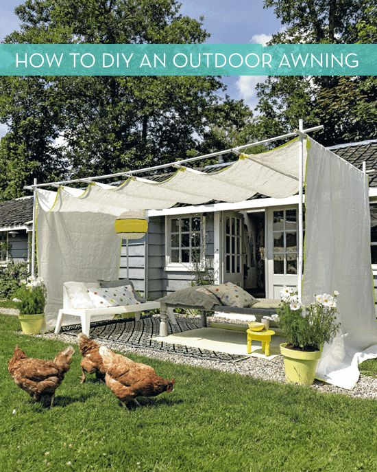 Best Outdoor Awnings Ideas On Pinterest Garden Awning - Backyard awning ideas