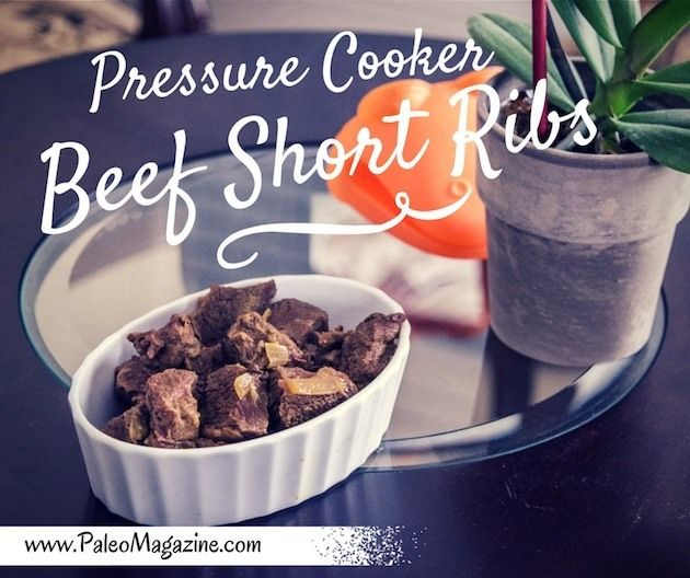 Get this Paleo pressure cooker beef short ribs recipe here and eat tender and flavorful short ribs for dinner tonight! With photos and printable step-by-step instructions.