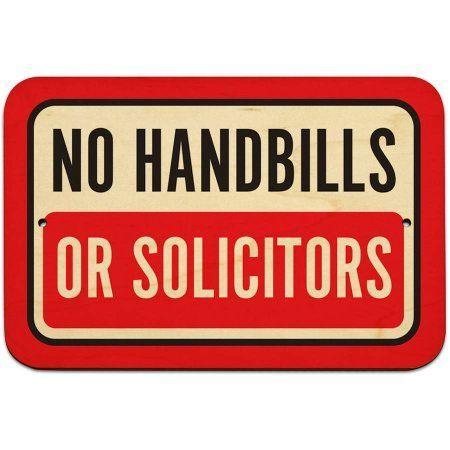 No Handbills Or Solicitors Sign