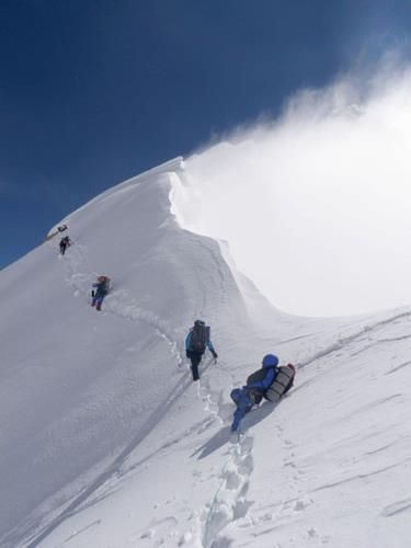 Mazeno Ridge is one of the difficult route to climb massive Nanga Parbat (8125m) the killer mountain. In July, 2012, Mr.Cathy and his team successfully climbed Nanga Parbat on this route. Photo by Cathy.