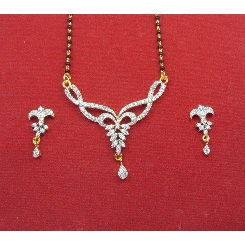 American diamond mangalsutra with price list - YouTube