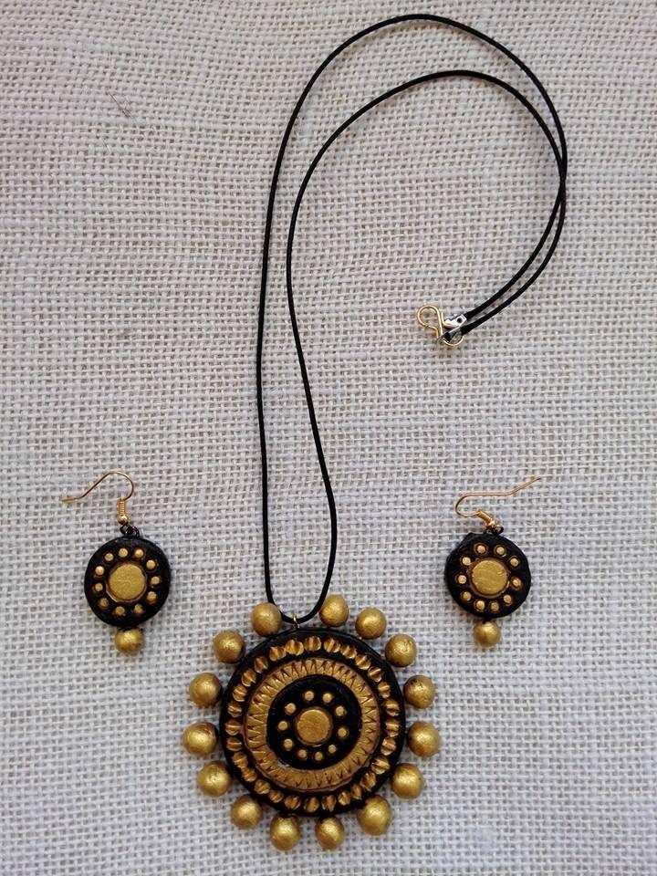 Terracotta Jewellery #jute #jewellery #art #craft #DIY #India #ecofriendly #kalakari #beauty #clay #terracotta