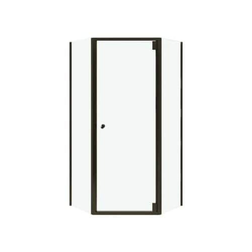 Sterling SP2375-38 Solitaire 72-1/4 Framed Pivot Neo Angle Shower Door with Clean Coat (silver with frosted glass texture)