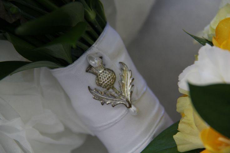Historic family bridal pin www.wanakaweddingflowers.co.nz/gallery/
