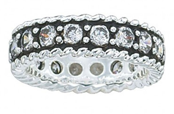 Montana Silversmith Crystal Shine Band Western Ring