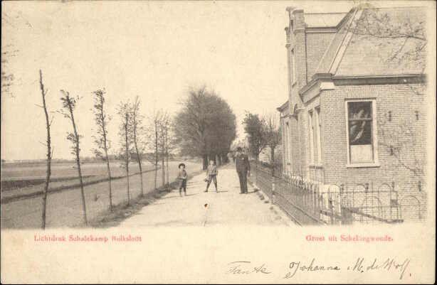 Beeldbank Prentbriefkaarten - Schellingwouderdijk gezien richting Nieuwendam.